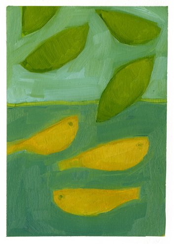 Leaves & 3 Fish