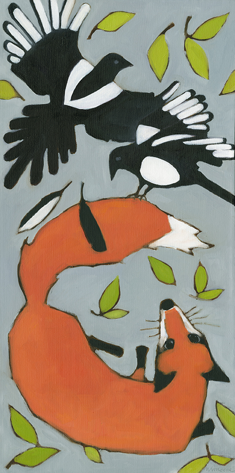 Magpies & Fox