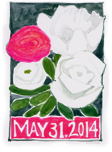 Commemorate the Date; Watercolor Painting Wedding Gift; Custom Wedding Invitation, Minneapolis, MN