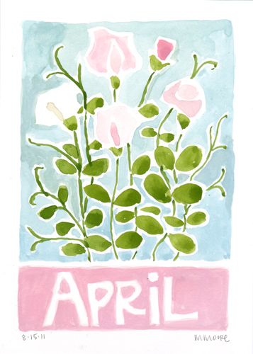 April Sweet Peas