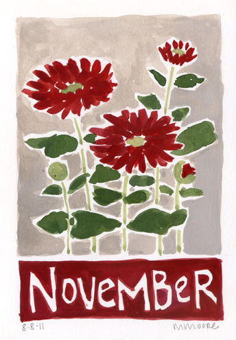 November Chrysanthemums