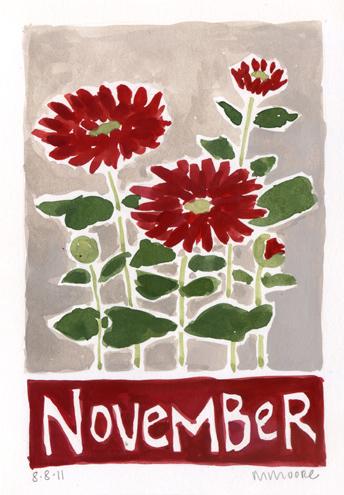 November Chrysanthemums