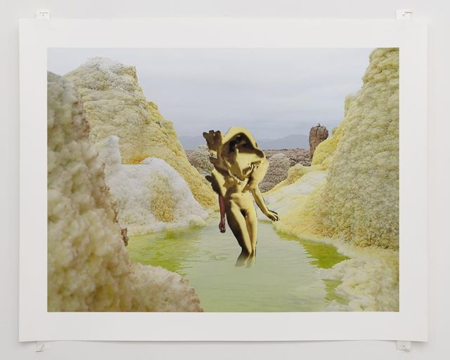 """Jesse Cohen's """"The Transformation Place"""", 2015, digital pigment print, 20 x 24 in.  This work is included in Destruction of Pleasure, a group exhibition curated by Lea Cetera with works by Alisa Baremboym, Sascha Braunig, Lea Cetera, Jesse Cohen, Ivy Haldeman, Lena Imamura, Avery Singer, and Pinar Yolaçan.  Destruction of Pleasure brings together eight artists that play with feminism, corporeality, illusion and surrealism in their work in order to create a perspective that complicates traditional expectations of the viewer. In her 1975 essay Visual Pleasure and Narrative Cinema, Laura Mulvey called for the destruction of the traditional male-oriented gaze and the cultivation of alternative perspectives. Mulvey declared """"Destruction of Pleasure is a Radical Weapon"""", that the traditional """"scopophilic"""" view of film had always belonged to the masculine, and that there would be a conception of a new viewpoint, that of an unknown, new """"language of desire"""". The works in the show offer ecstatic new narratives, histories, considerations from a new generation of female artists creating across a variety of media a visual language that is uniquely their own.  This is the inaugural show in the Colloquy series, where artists are invited to curate a show that includes their own work alongside other artists they are in dialog with. These exhibitions present an archive of a specific discourse while providing an additional layer of context to the artists practice.  The show will be up until November 29 with galley hours by appointment only. Contact us to arrange a viewing: metametameta.org@gmail.com"""