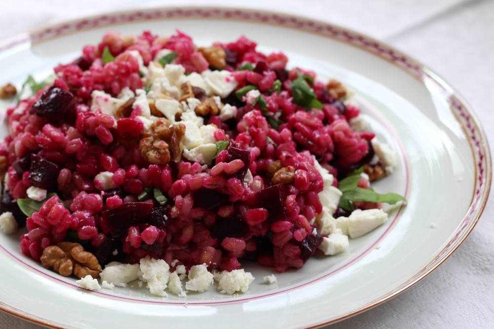 Barley and Beetroot Risotto