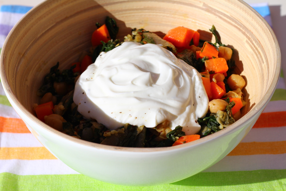 Chickpeas with Chard and Carrot