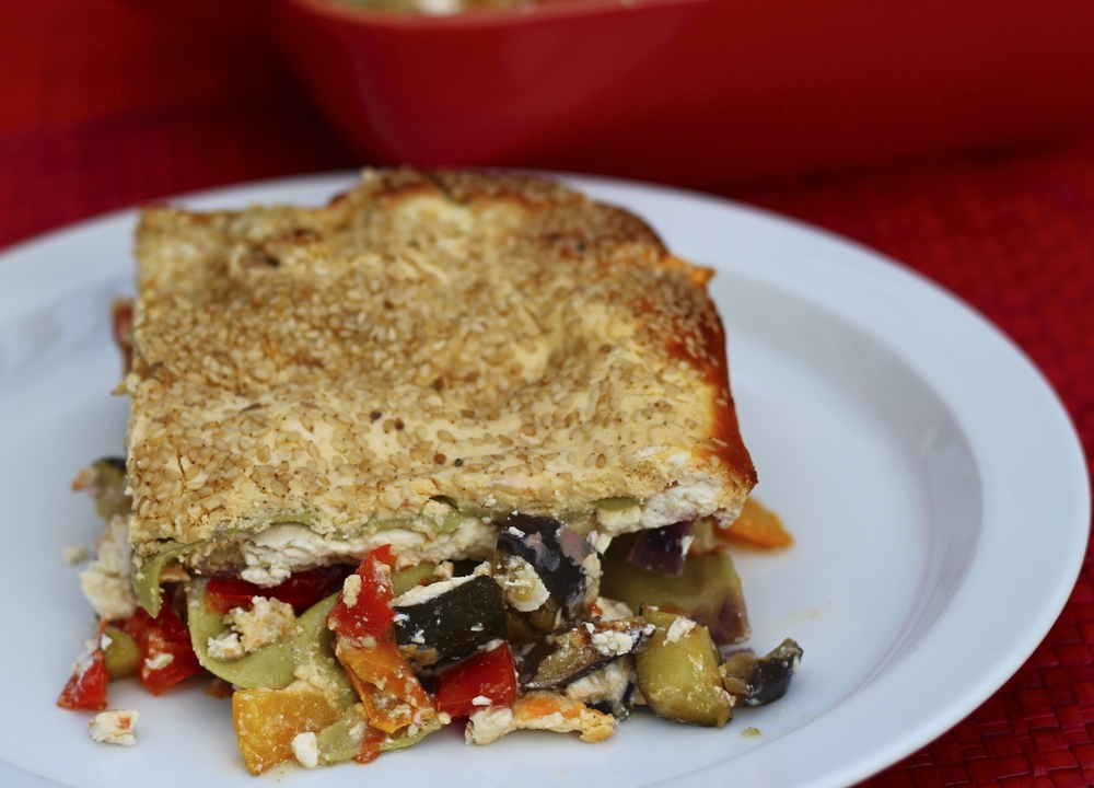 Roasted Vegetables and Tahini Lasagna