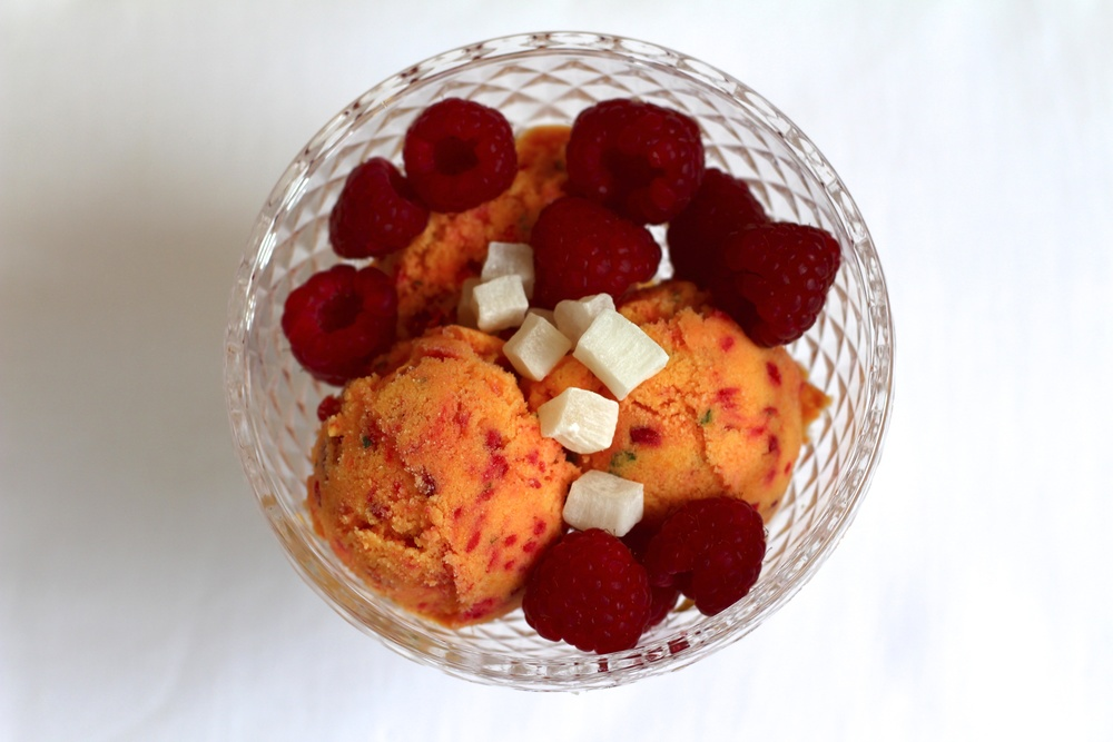 Mango and Raspberry Frozen Yoghurt