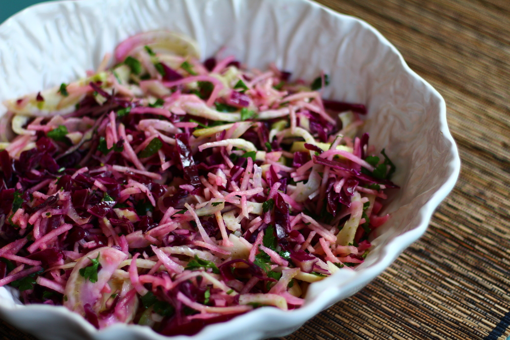 Fennel, Red Cabbage and Apple Salad