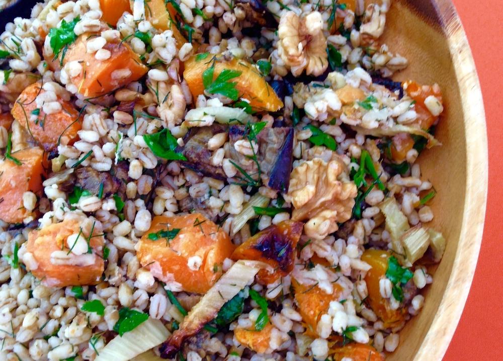 Salada de Funcho Abóbora e Nozes