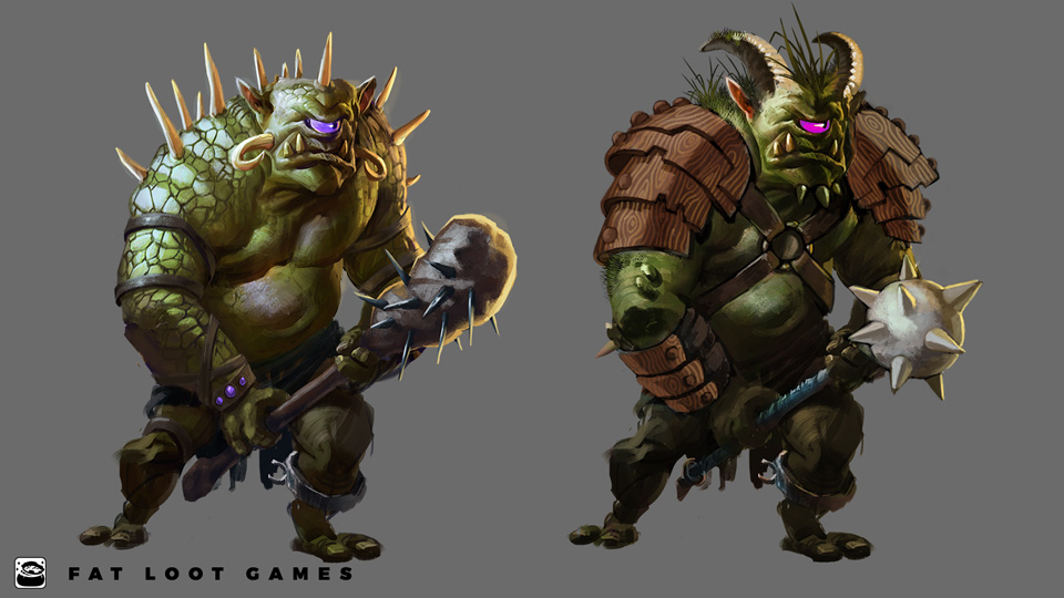 Fat Loot Games did creature concept work and created additional tiers of monster enemies from assets supplied by the client.