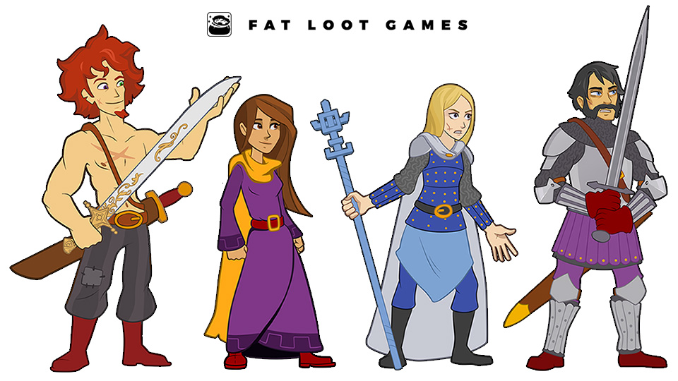 Fat Loot Games participated in the HD remaster of Defenders Quest: Valley of the Forgotten. We extended original backgrounds by Karen Petrasko (  karenpetrasko.com  ) to widescreen aspect ratios and high-resolution sizes. We also created 200+ character assets for RPG segments.