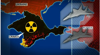 Do you see the radioactive symbol over Crimea? Because they'd really like you to see it. I'll give you a moment to find it.