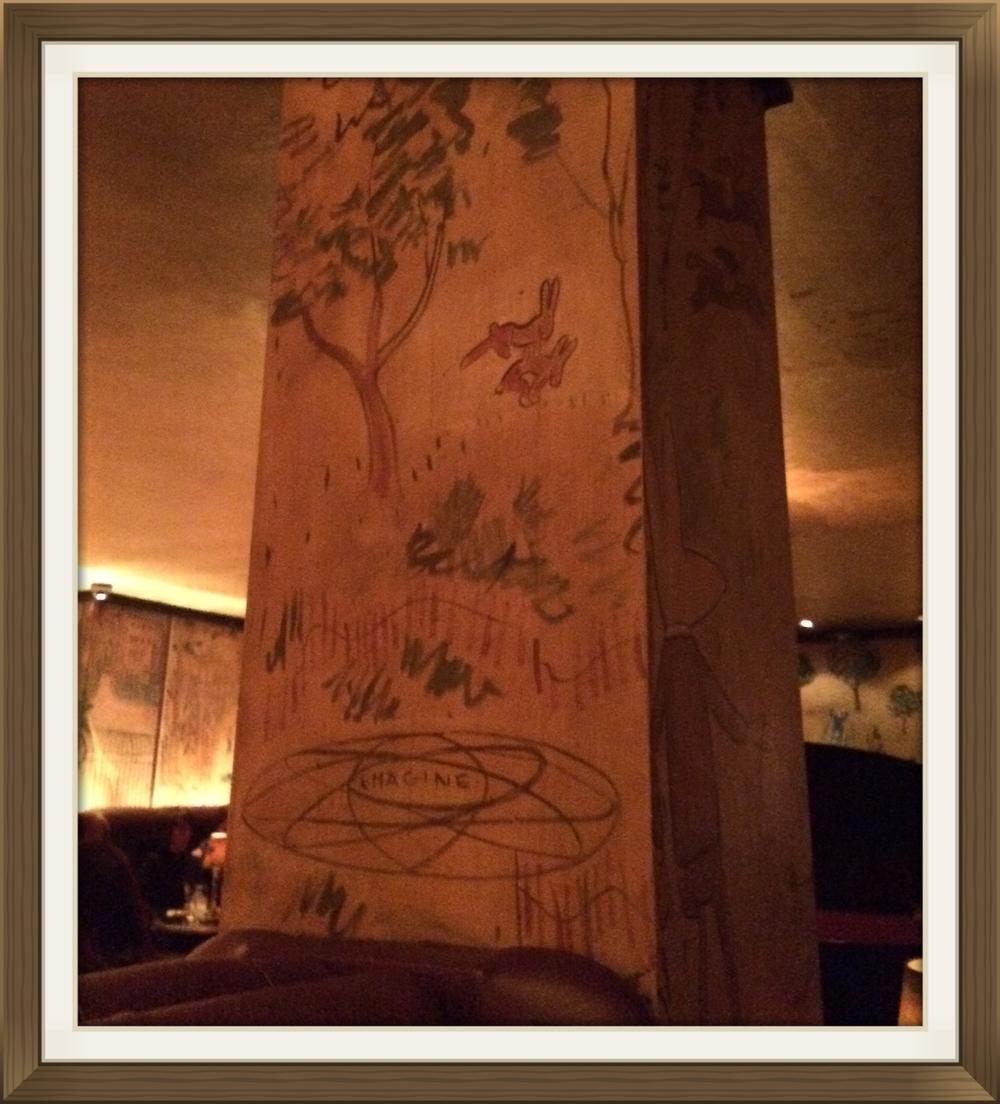 Bemelmans Bar - Completely covered inoriginal art by Ludwig Bemelmans, creator of Madeline