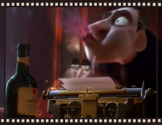 Anton Ego and Cheval Blanc '47 from Ratatouille