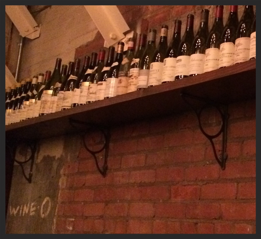 Wine-O wall at Brian McClintic's Les Marchands
