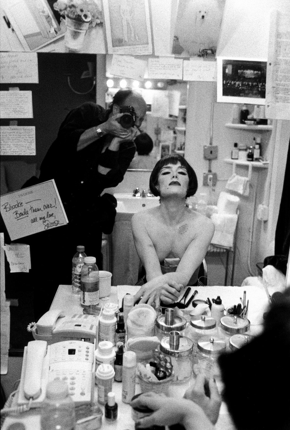 Backstage at Cabaret with Brooke Sheilds