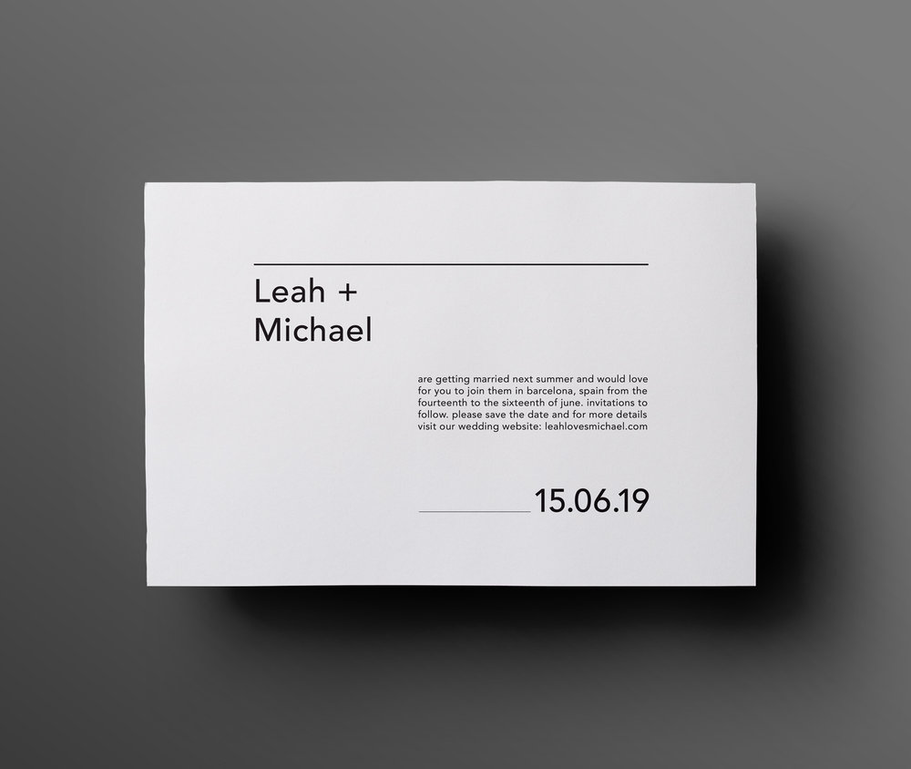 8 brand new minimal save the dates the letterist