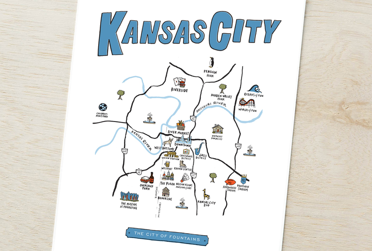 Kansas City Neighborhood Map — High Fancy Paper