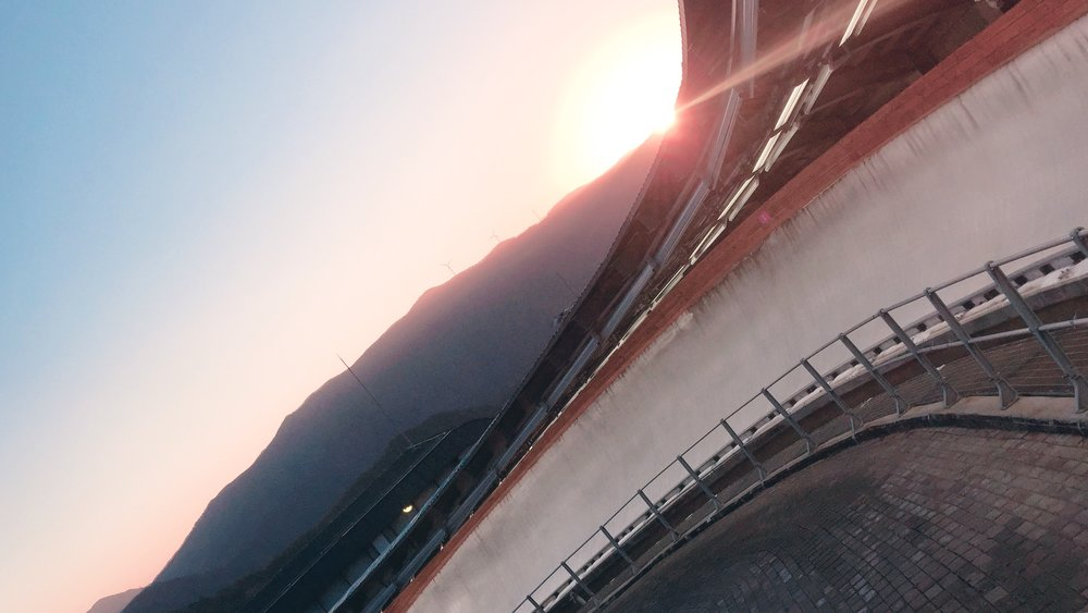 View of curve 2 in Pyeongchang on the final training session.