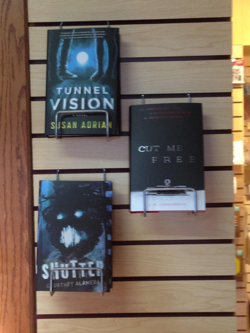 display of courtney alameda, jenn johannson, and my books at king's english!
