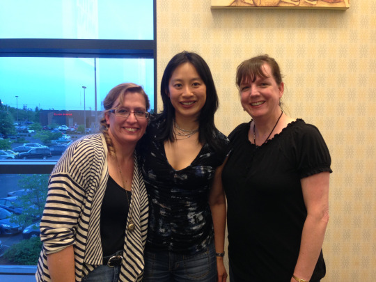 me, fonda lee, and cat winters in portland!