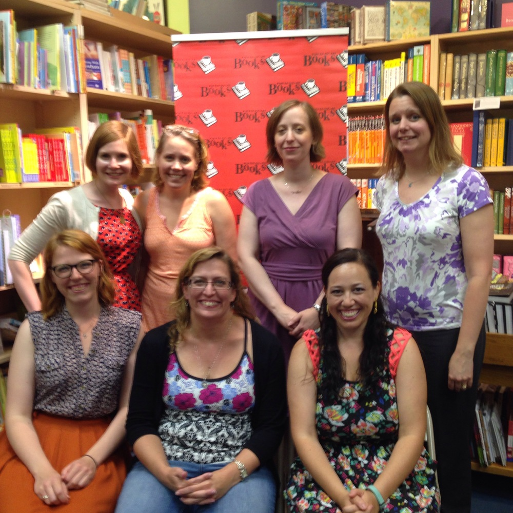 Annie cardi, trisha leaver, marcykate connolly, jen brooks, mackenzi lee, me, and rachel shane in boston!