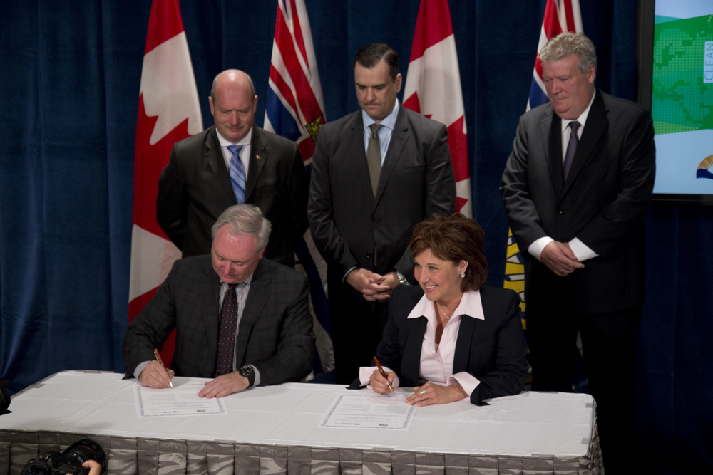 B.C. Government And Pacific NorthWest LNG Signing Project Development  Agreement