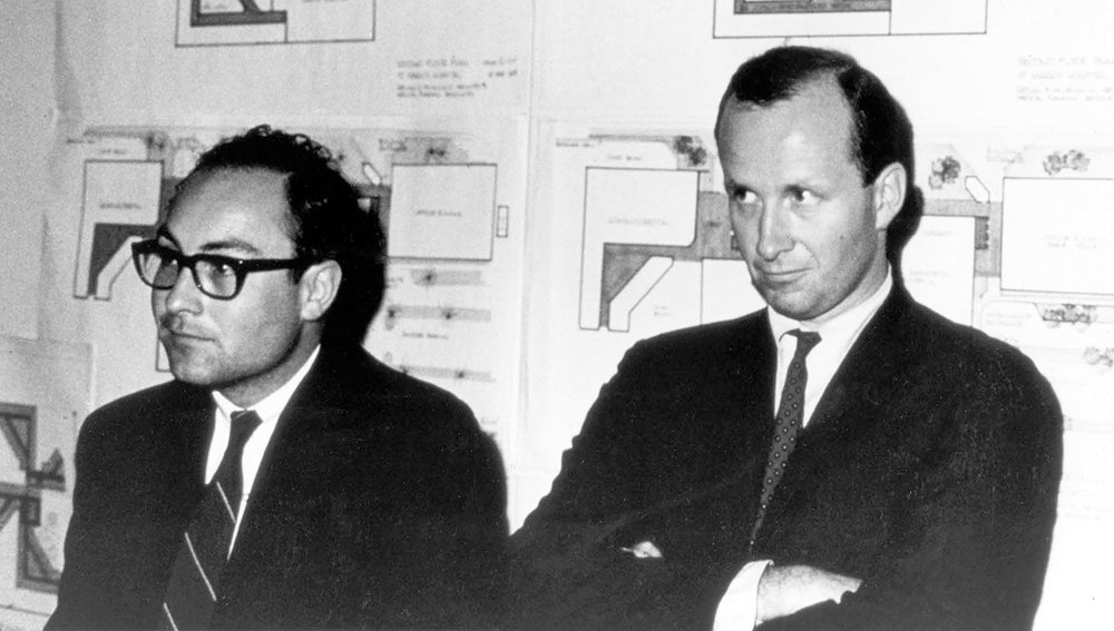 Jim Diaz and KMD Architects founder Herb McLaughlin in the late 1960s