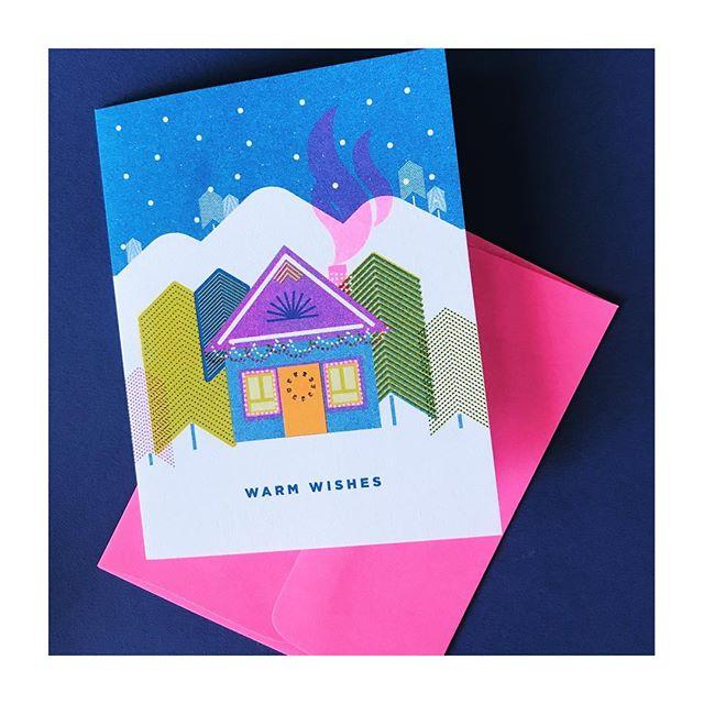 Stay warm today folks. . . . #greetingcards #greetings #greetingcard #holidaycards #riso #risoart #risoprint #risograph #risocards #etsy #etsyshop #videpress #madeincanada #madeintoronto #slyeye #slyeyeca #slyeyecards