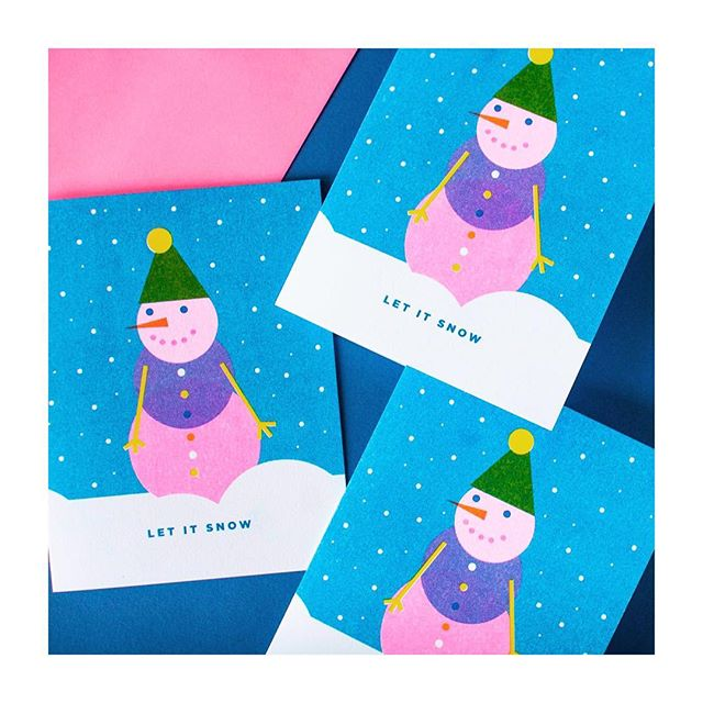 Getting ready for next weeks market @smashsalvage. Gonna be a good one!! . . . #madeintoronto #madeincanada #risoart #risograph #risoprint #riso #slyeye #slyeyeca #slyeyecards #illustrationoftheday #holidaycards #holidaycards #christmas #snowman #snow #winter