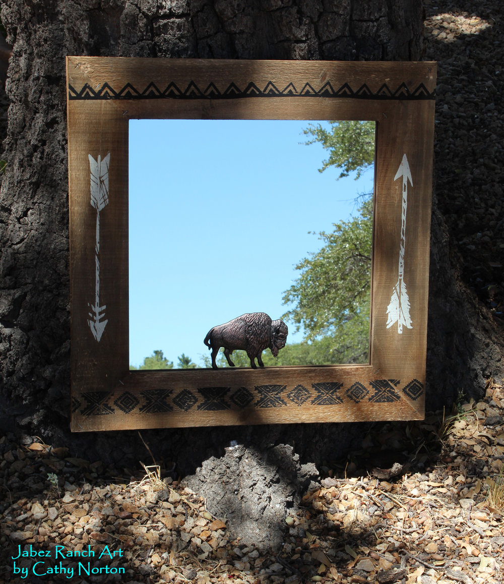 Buffalo Mirror - by Cathy Norton