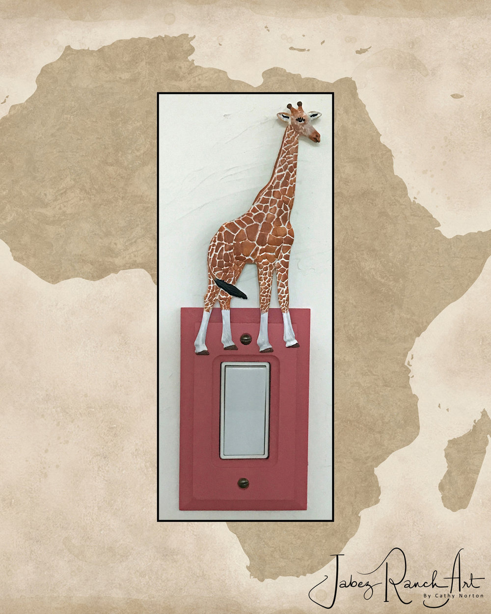 Giraffe Switch Plate Cover - By Cathy Norton