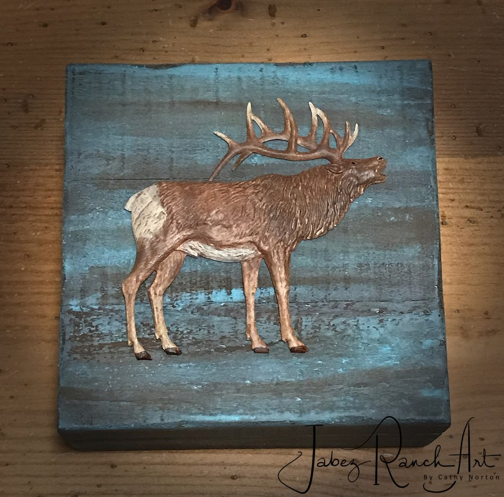 The Call of the Wild Elk Box  - by Cathy Norton