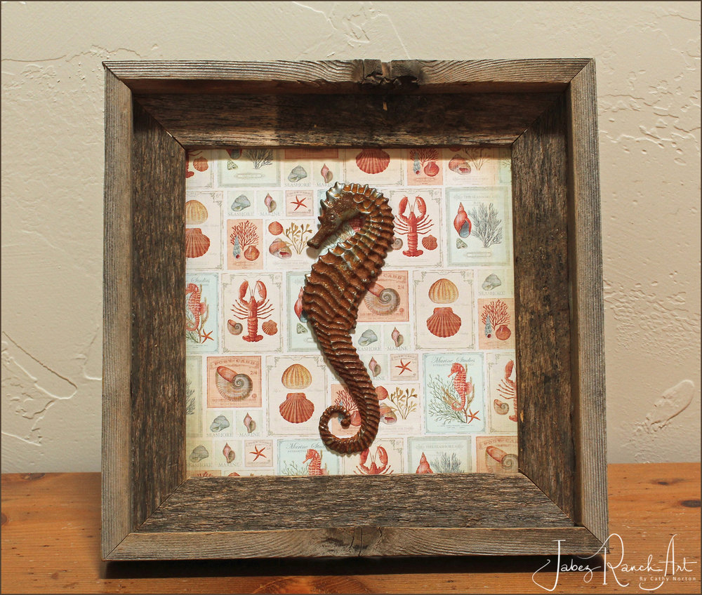 Framed Seahorse - By Cathy Norton