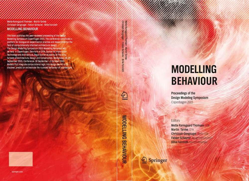 The research work behind the Sense III project will be published in the forthcoming book 'Modelling Behaviour' edited by Mette Ramsgaard Thomsen, Martin Tamke, Christoph Gengnagel, Fabian Scheurer, Billie Faircloth, published by Springer Verlag. We are excited to take part in the Design Modeling Symposium Conference, which the book is based on.