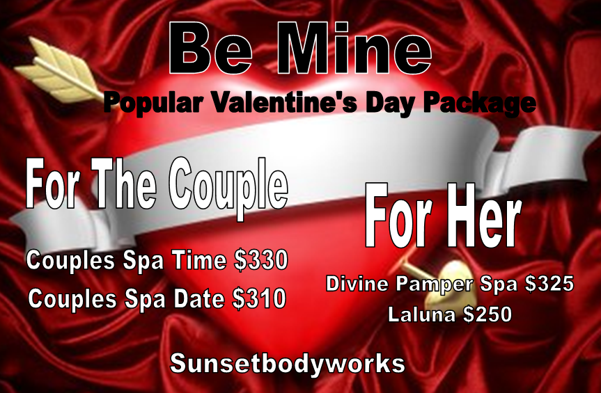 Valentine's popular spa packages