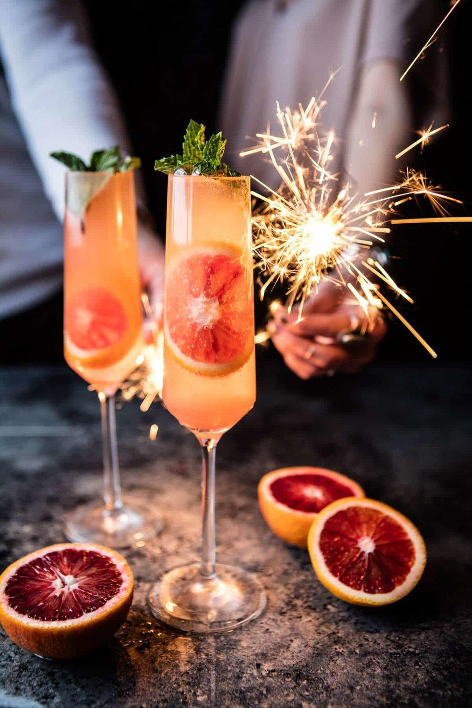 Blood Orange Champagne Mule -