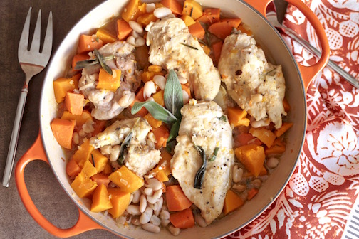 One pot chicken with sage and sweet potato
