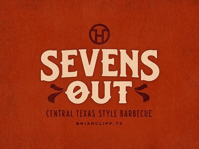 Here's a preview of a logo for a new bbq restaurant in Briarcliff, near Pace Bend park. Getting ready to l(a)unch soon, and we can't wait!