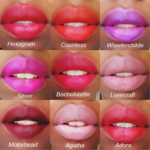 Raw Swatches of Kat Von D's Studded Kiss Lipstick Set