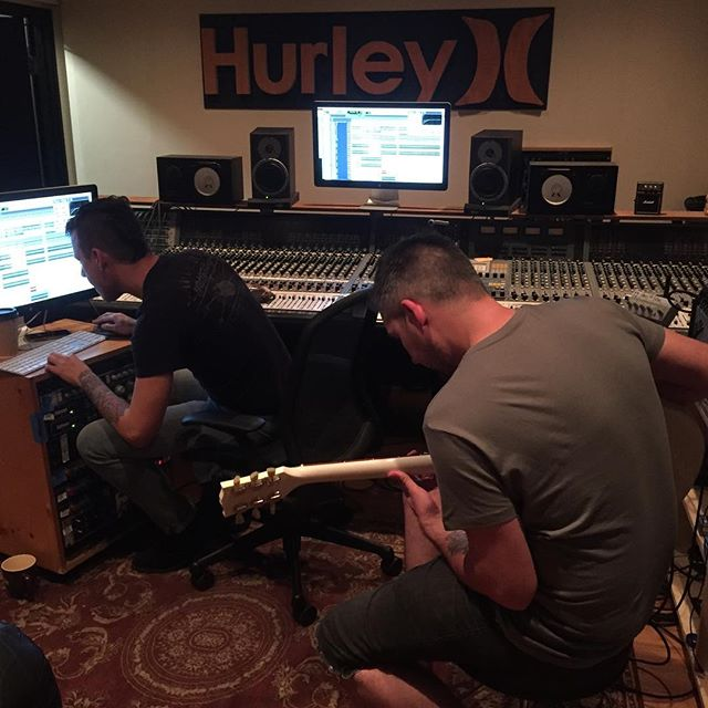 Guitars have started @hurley recordings. Sounding huge! #Album5