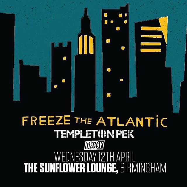 Next Weds April 12th we'll be playing a show with @freezetheatlantic at the @thesunflowerlounge Have a butchers. Testing out some new stuff.