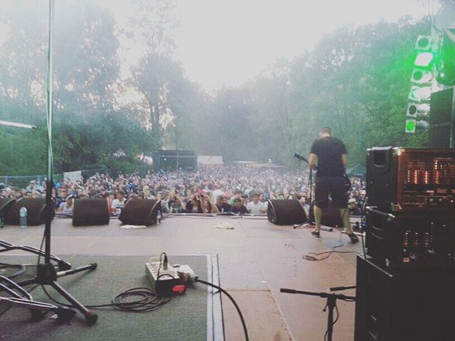 The view from the drum riser. #flashbackfriday #TPtimewarp one of our favourite festivals @taubertalfestival Germany, August 2012. 📷: @therealgonk #taubertal #laneyamps