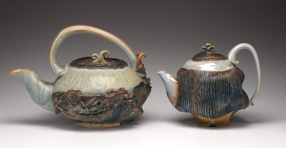 """Two Wood-Fired Teapots"""