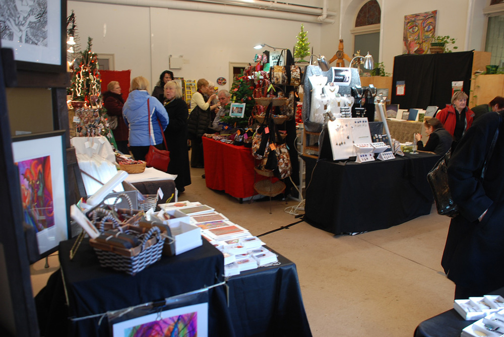 Vendors on the First Floor of the Christmas Tea & Sale