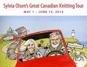 Sylvia Olsen's Great Canadian Knitting Tour