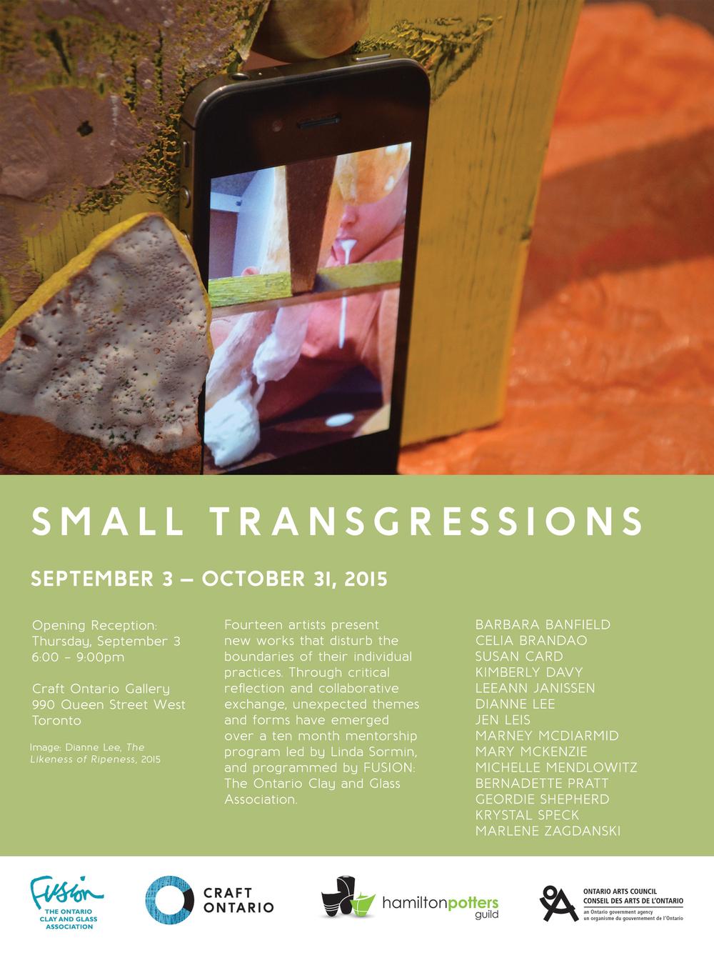 Small Transgressions at Craft Ontario