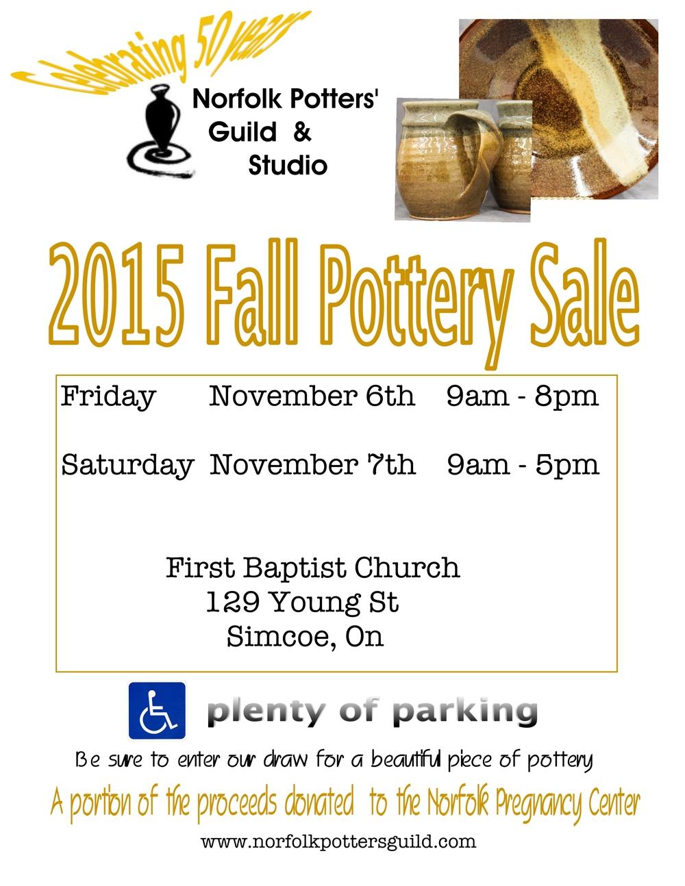 2015 Fall Pottery Sale