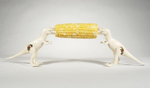 Lana Filippone -Teerex Corn Cob Holders, 2012. Porcelain. Photo: Nick Chase
