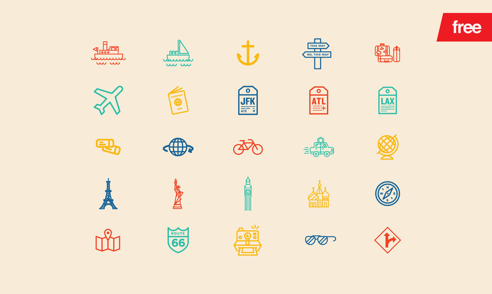 Travel - 30 FREE Vector Icons